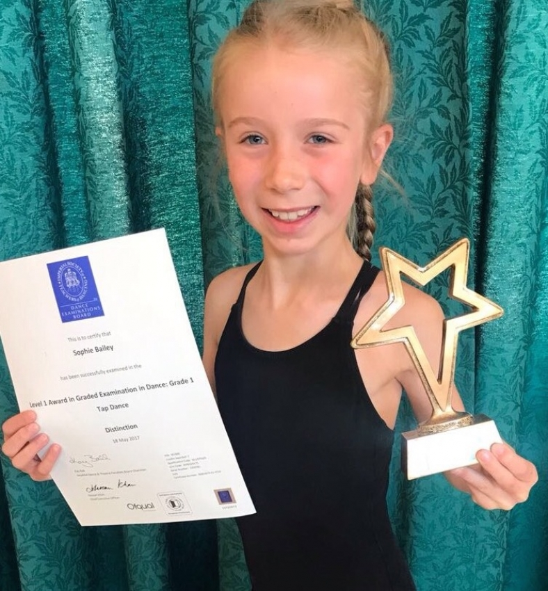 2017 Tap High Achiever Awards for Sophie Bailey, Millie Bowden, Katie Laber and Mia Pollard