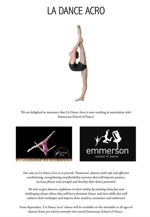 Acrobatics Arts Syllabus coming to Emmerson